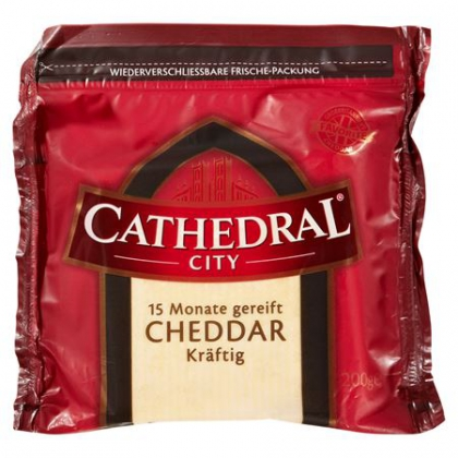 Cathedral City Cheddar kräftig 15 Monate gereift 200 g