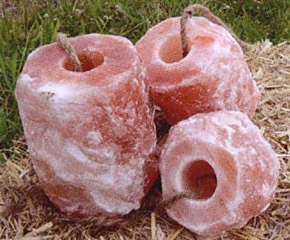3 x Salzleckstein für Tiere ca 1,5 - 2 kg - Premium-Qualität