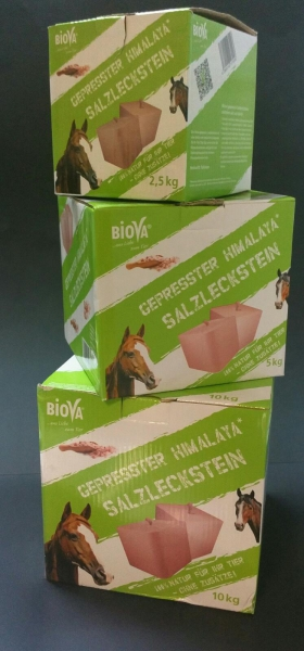 Biova Salzlecksteine ca 5kg -gepresst