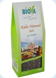 200 g Biova Kala Namak Salz aus Indien, Granulat