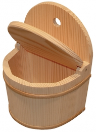 1x Salzfass halbrund - Holz